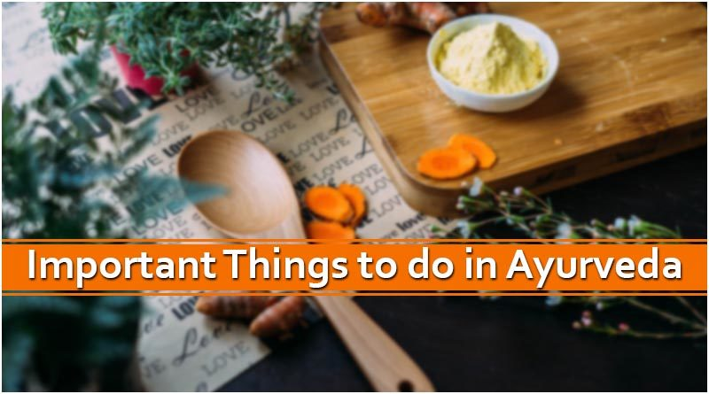 Important Things to do in Ayurveda at AYM Ayurveda School